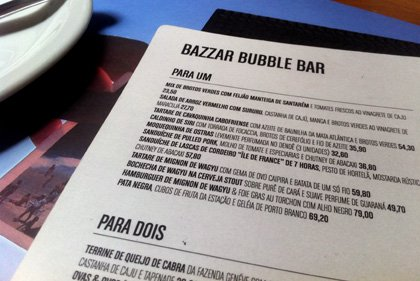 Bazzar Bubble Bar